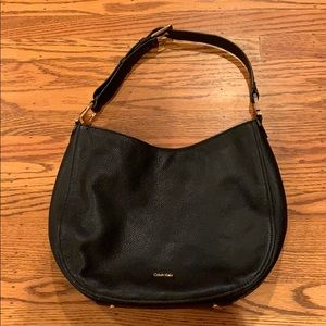 Calvin Klein Black Leather Purse